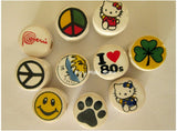 Ceramic Clay Beads, round 14mm, many designs