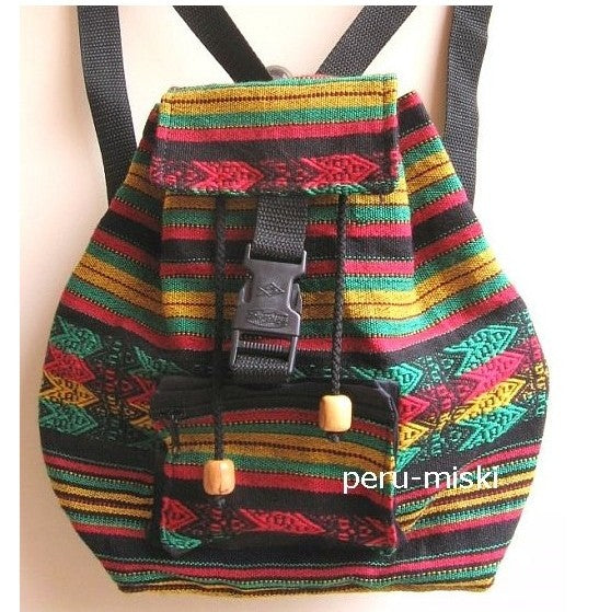 14 Backpacks in Rasta Colors, small