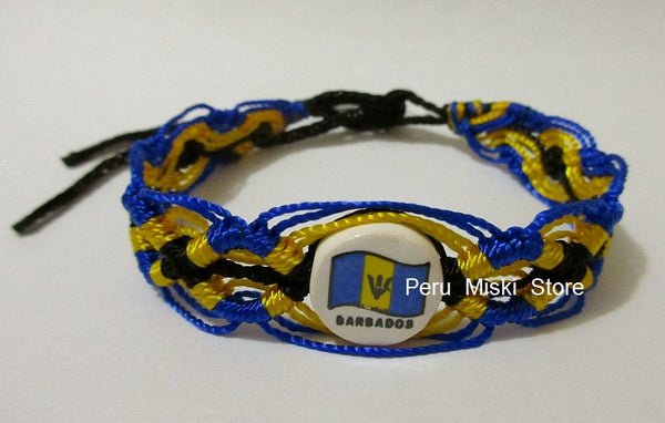 50 Barbados Flag Friendship Bracelets