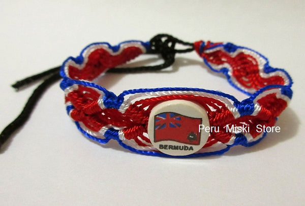 50 Bermuda Flag Friendship Bracelets