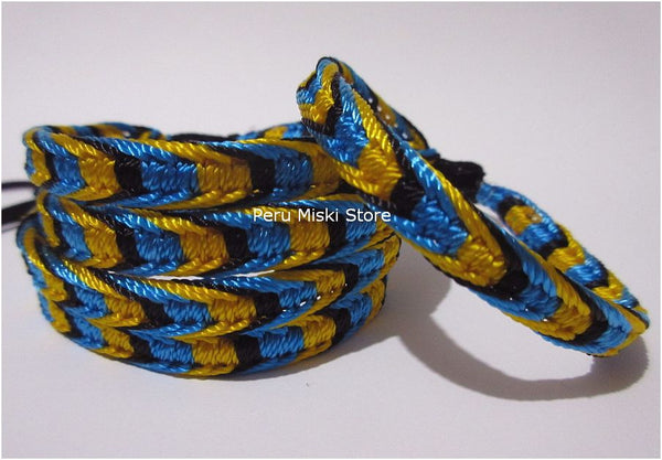 Friendship Bracelets, Bahamas colors, fishbone knot
