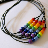 100 Friendship Bracelets with Rainbow Beads