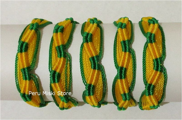 Friendship Bracelets, Brazil flag colors