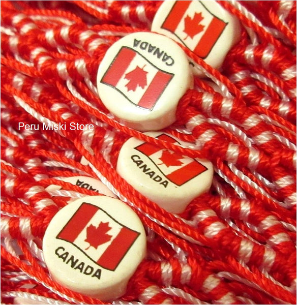 50 Canada Flag Friendship Bracelets