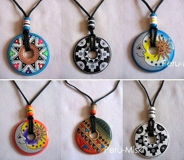 100 Ceramic Necklaces - Donuts - Handpainted