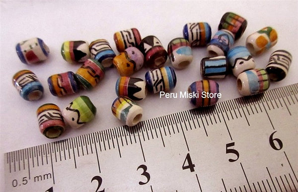 Ceramic Clay Beads, 6 mm, Peruvian
