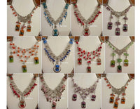 Necklaces, alpaca silver and fused glass beads