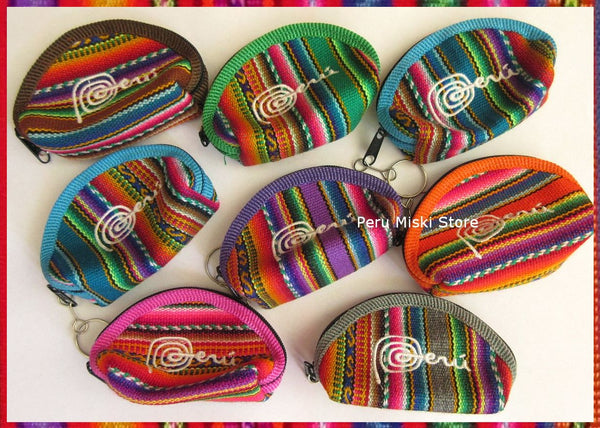 100 Coin Purses in peruvian manta, small
