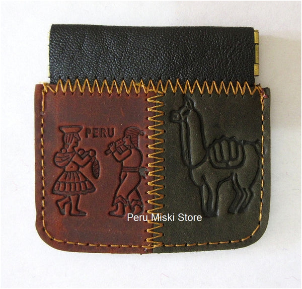 50 Unisex Coin Pouch Snap, Leather