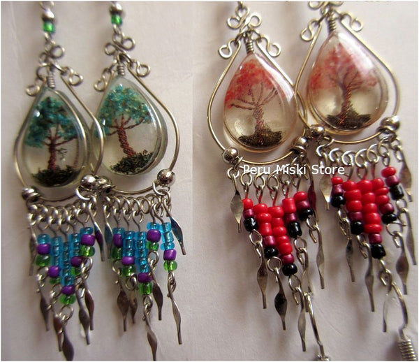 dangle earrings with Tree of Life