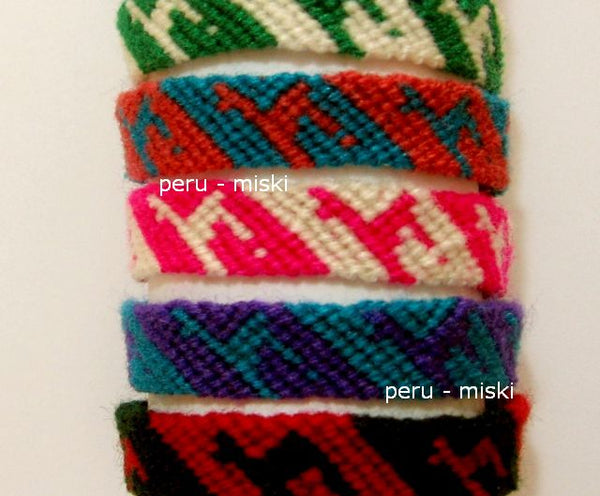 Friendship Bracelets with Llamas from Cusco