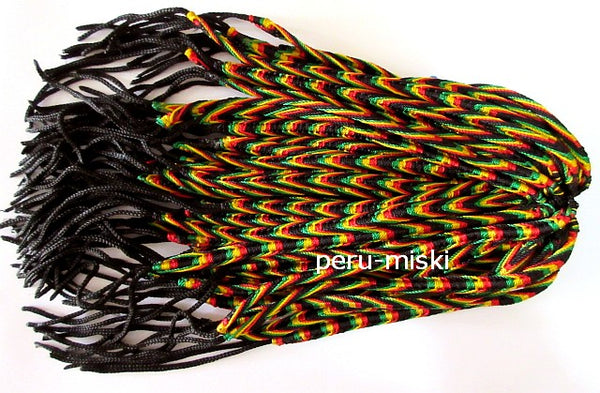 100 Rasta Friendship Bracelets Fishbone knot