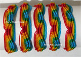 Friendship Bracelets, Five Color Rainbow