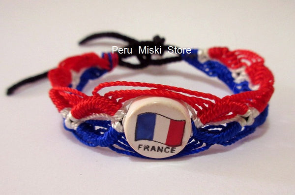 50 France Flag Friendship Bracelets
