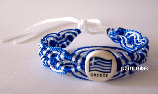 50 Greece Flag Friendship Bracelets