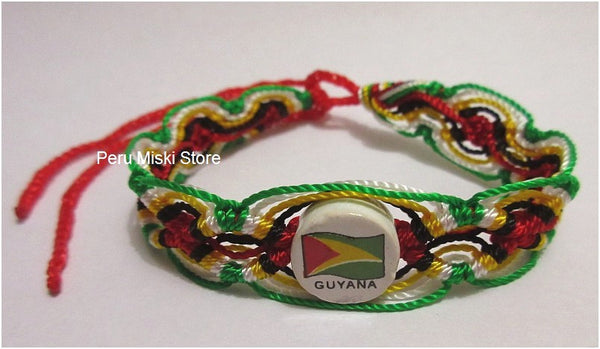 50 Guyana Flag Friendship Bracelets