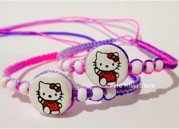 Friendship Bracelets with Hello Kitty
