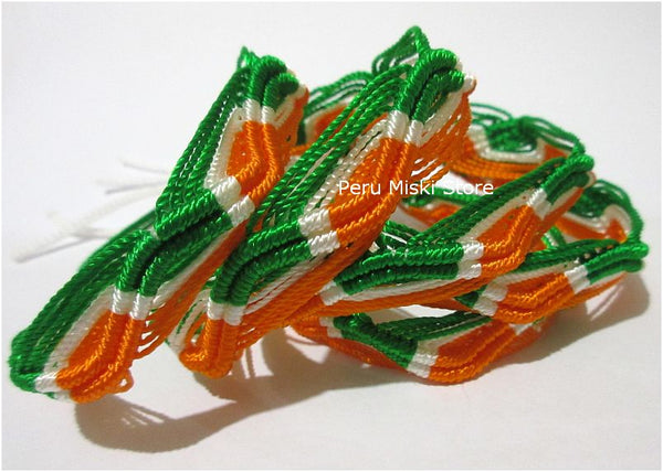 Friendship bracelets Ireland Flag colors