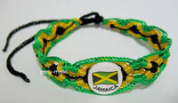 50 Jamaica Flag Friendship Bracelets, Beachwear, Rasta