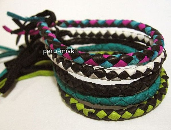 Leather Friendship Bracelets, Braided