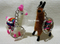 100 Keyrings, Llamas, handmade, from Peru