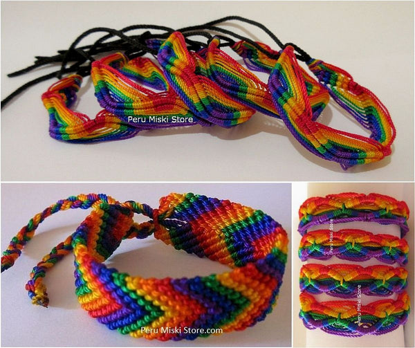 Friendship Bracelets Rainbow Mixed Lot