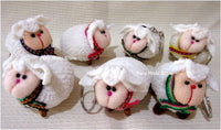 Keyrings, keychains, charms, Sheep, handmade, from Peru