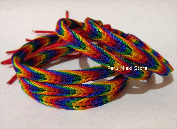 Friendship Bracelets Rainbow Fishbone Knot