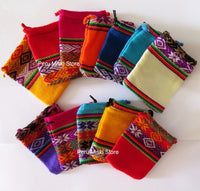 20 Jewelry pouches from Peru, small - Very colorful