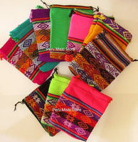 40 Jewelry pouches from Peru, medium - Very colorful