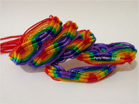 30 Friendship Bracelets Rainbow ZigZag - Red