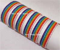 Friendship Bracelets Rainbow Stripes - Ribbons