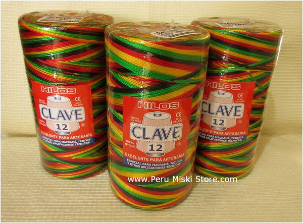 Macrame Thread, Rasta, 1300m, nylon