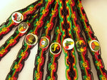 50 Rasta Friendship Bracelets with ceramic beads