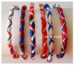 100 Friendship Bracelets Criss Cross, Red-white-blue