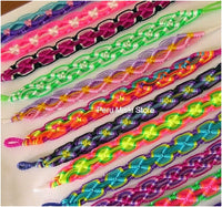 100 lot Friendship Bracelets Rhombus Knot