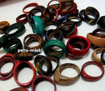 100 Coconut Rings, assorted colors