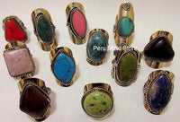 100 Alpaca Silver Rings with semiprecious stones
