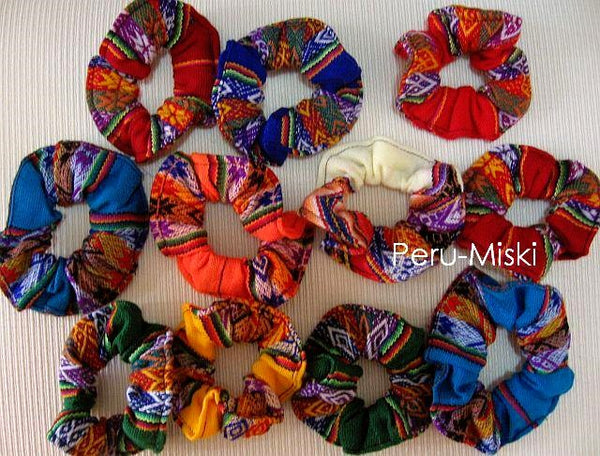 25 Scrunchies, Inca Colors