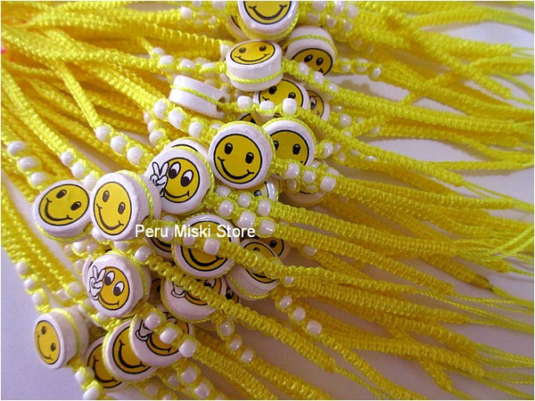 20 Friendship Bracelets with Smiley Face