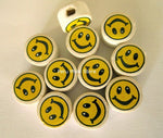Ceramic Clay Beads, Smiley face