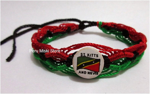 50 St Kitts and Nevis Flag Friendship Bracelets