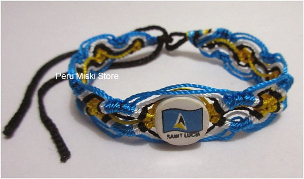 50 St Lucia Flag Friendship Bracelets