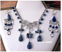 10 Sets, Semiprecious stones and alpaca silver, necklaces and matching earrings