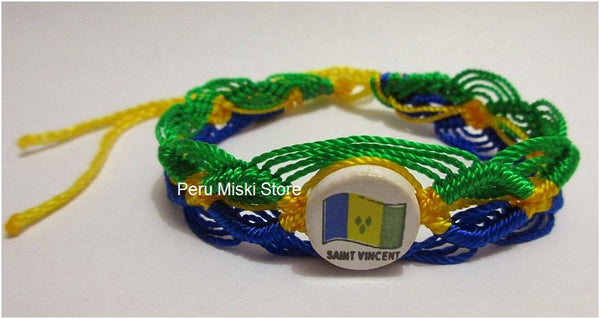 50 St Vincent Flag Friendship Bracelets
