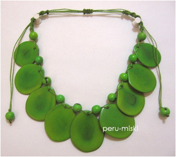 12 Tagua Necklaces - Round beads