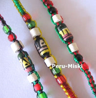 100 Rasta Friendship Bracelets with Small Ceramic Beads