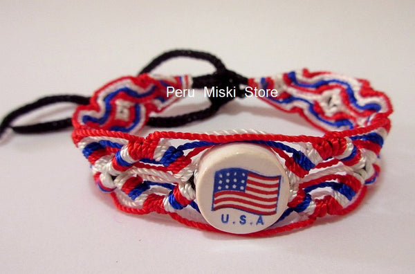 50 USA Flag Friendship Bracelets