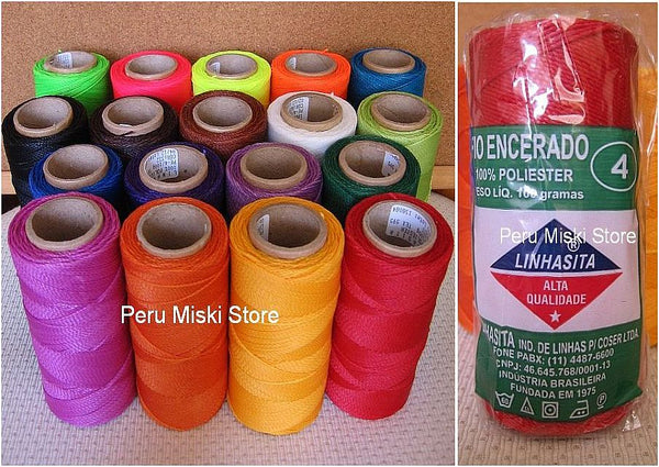 100 cones of Waxed Thread, Linhasita, 100% polyester