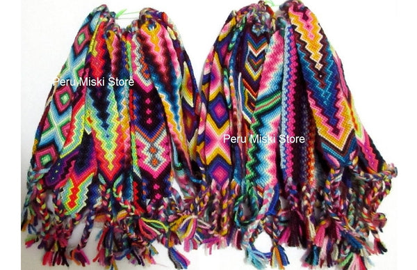 Wide Friendship Bracelets from Cusco, Cuzco, Wool